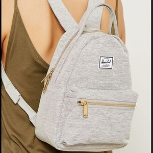 "Herschel Supply Co. ""mini nova"" gray backpack"
